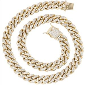 Other - Iced 14k Miami Cuban Link Chain